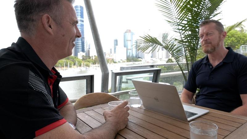 Shaun O'Gorman coaching a client