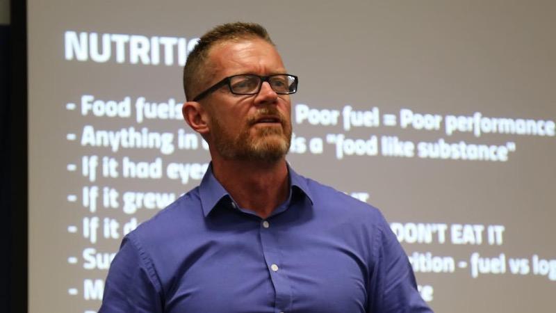 Shaun O'Gorman presenting The Strong Life workshop